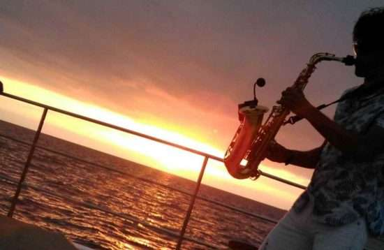 Catamarantocht bij zonsondergang Gran Canaria
