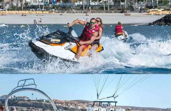 Gran Canaria Water Sports Saving Package Parasailing & JetSki