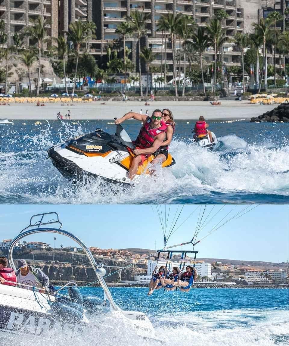 Gran Canaria Wassersport Sparpaket Parasailing & JetSki