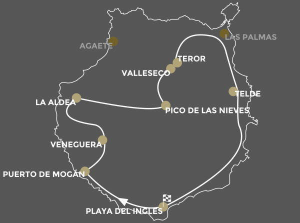 Map Route Bus Tour Gran Canaria